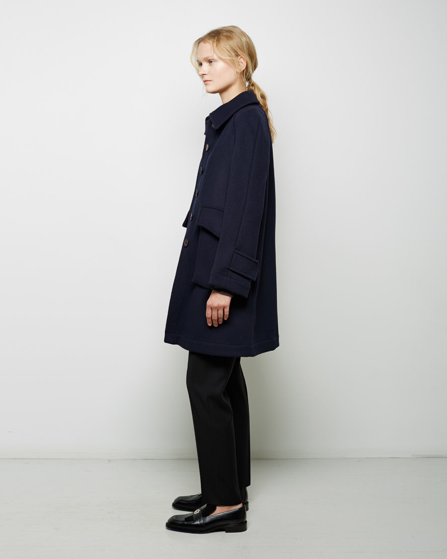 J.w.anderson Wool Mac Coat in Blue | Lyst