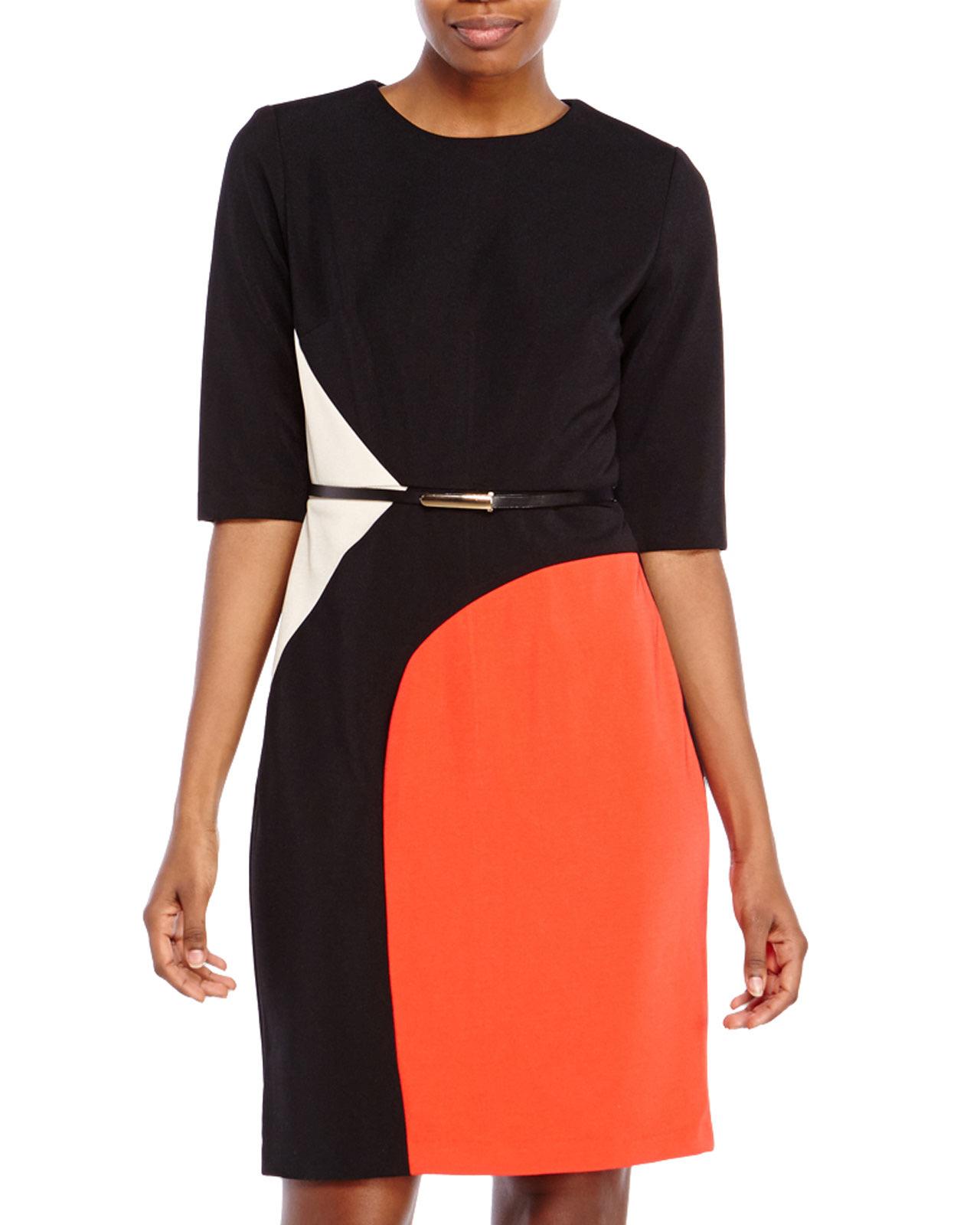 Sandra darren color block dresses