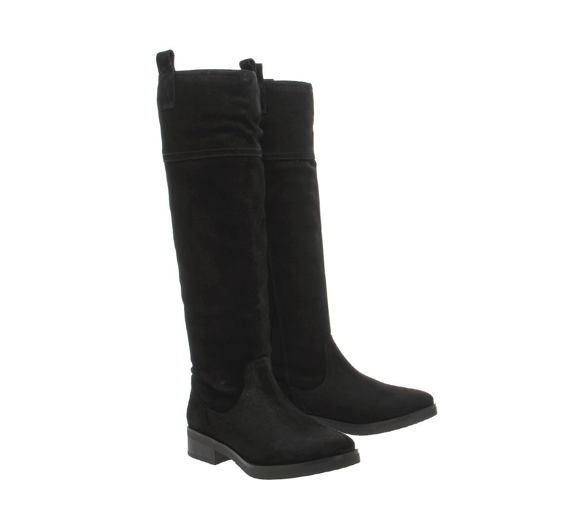 Office Eastwood Knee Boots in Black Suede (Black)