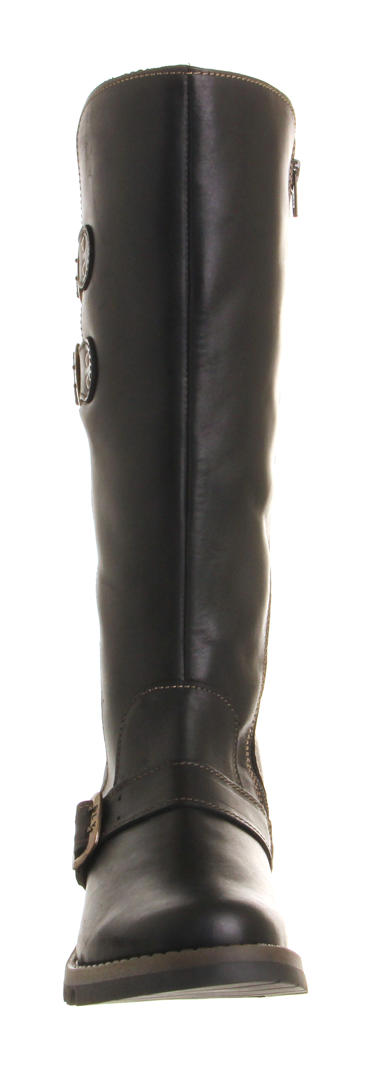 fly solv low wedge buckle boots in black lyst