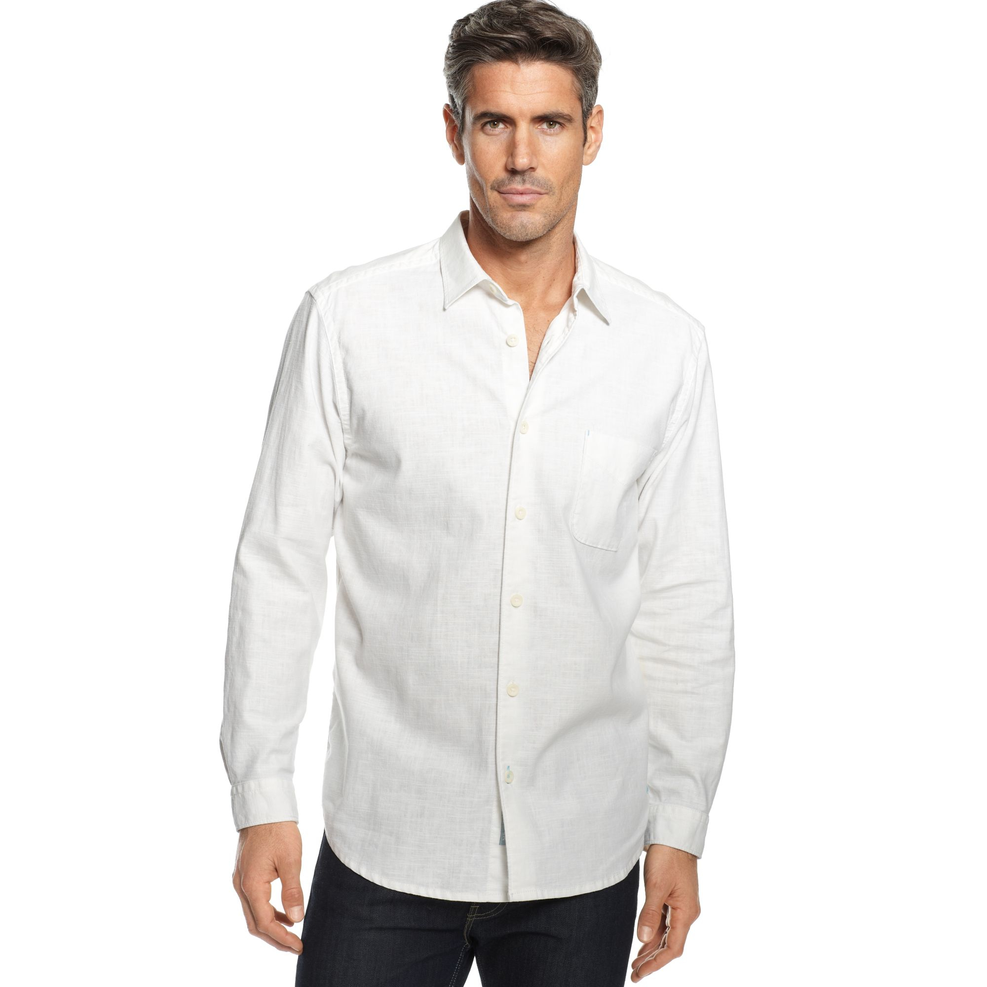 Tommy Bahama Big And Tall Sea Glass Breezer Shirt In White