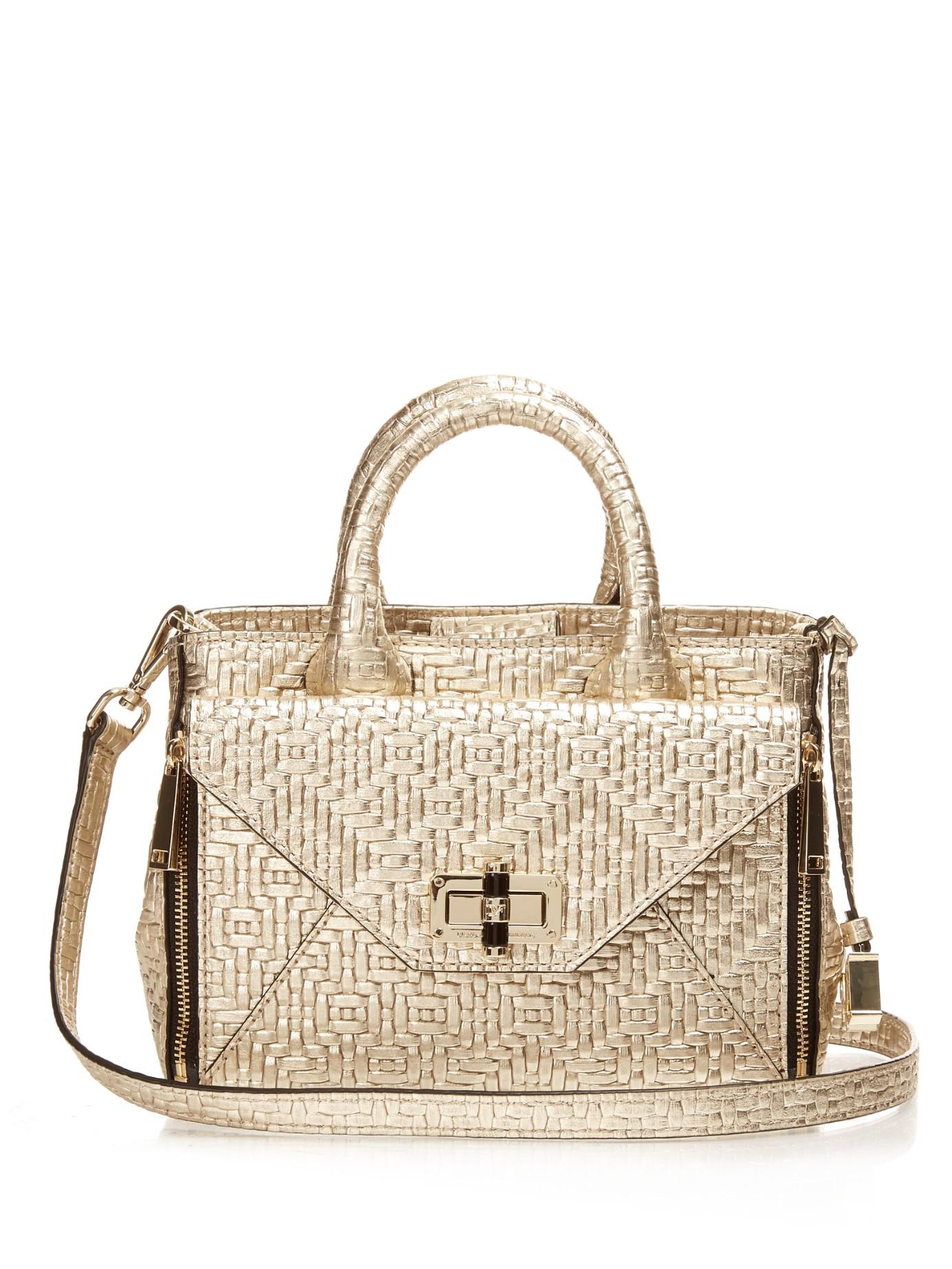 32f10725ca64 Diane von Furstenberg Metallic 440 Gallery Mini Secret Agent Cross-body Bag
