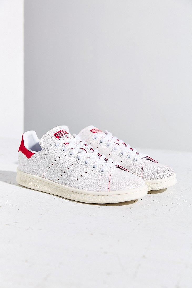 lyst adidas stan smith e scarpe da ginnastica in rosso