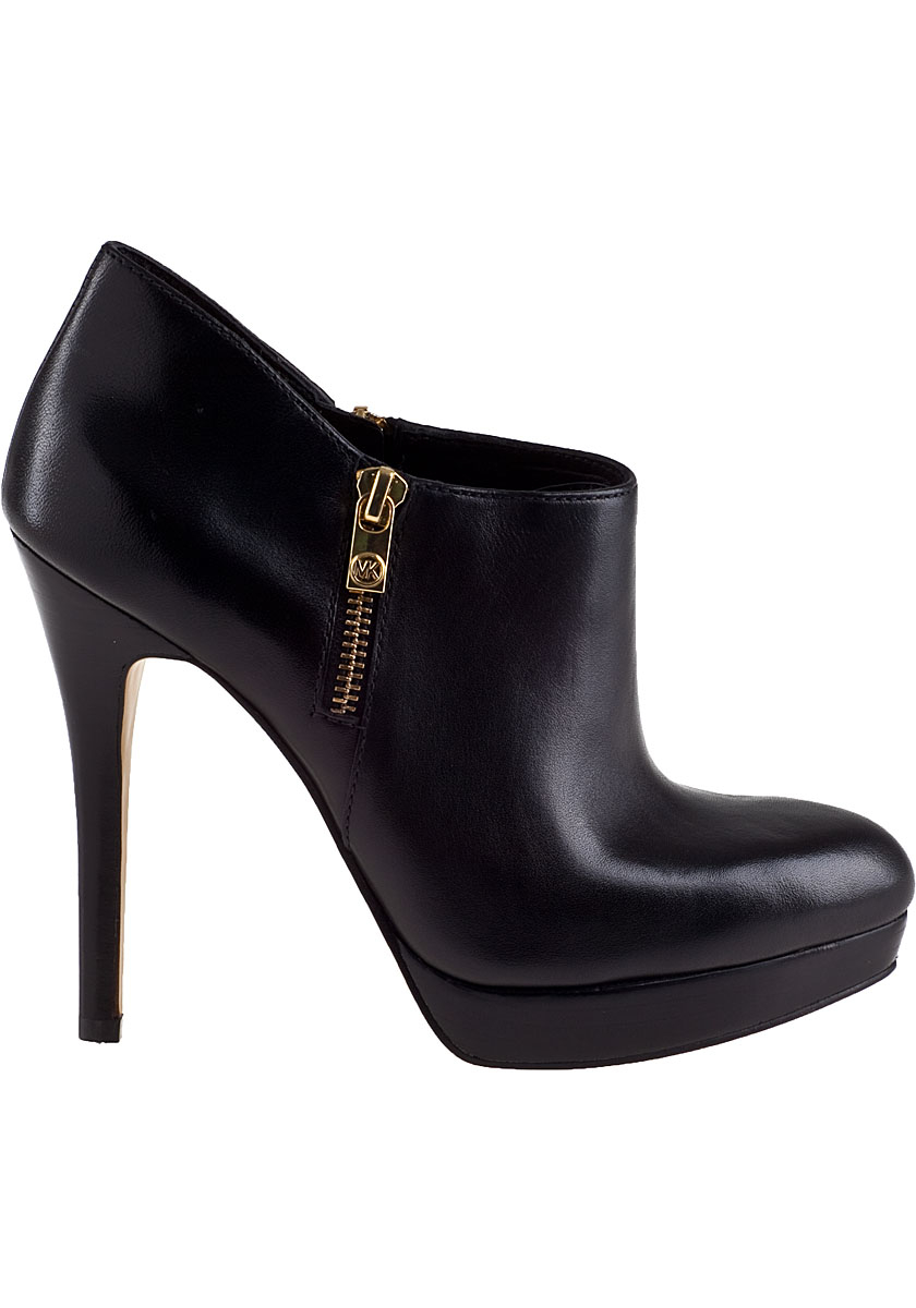 Lyst - Michael Michael Kors York Bootie Black Leather in Black