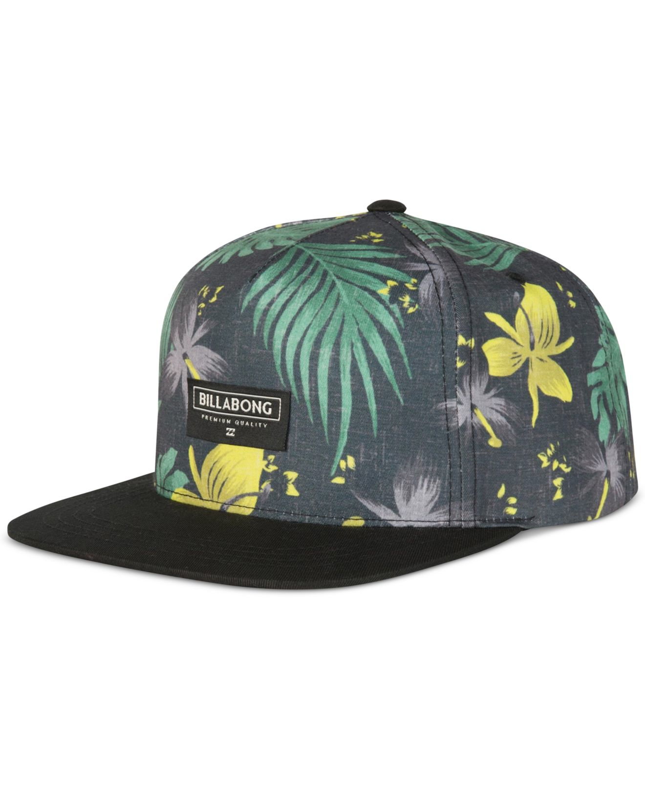7e17ce44774 50% off lyst billabong sly floral print snapback hat in black for men e4039  ded40