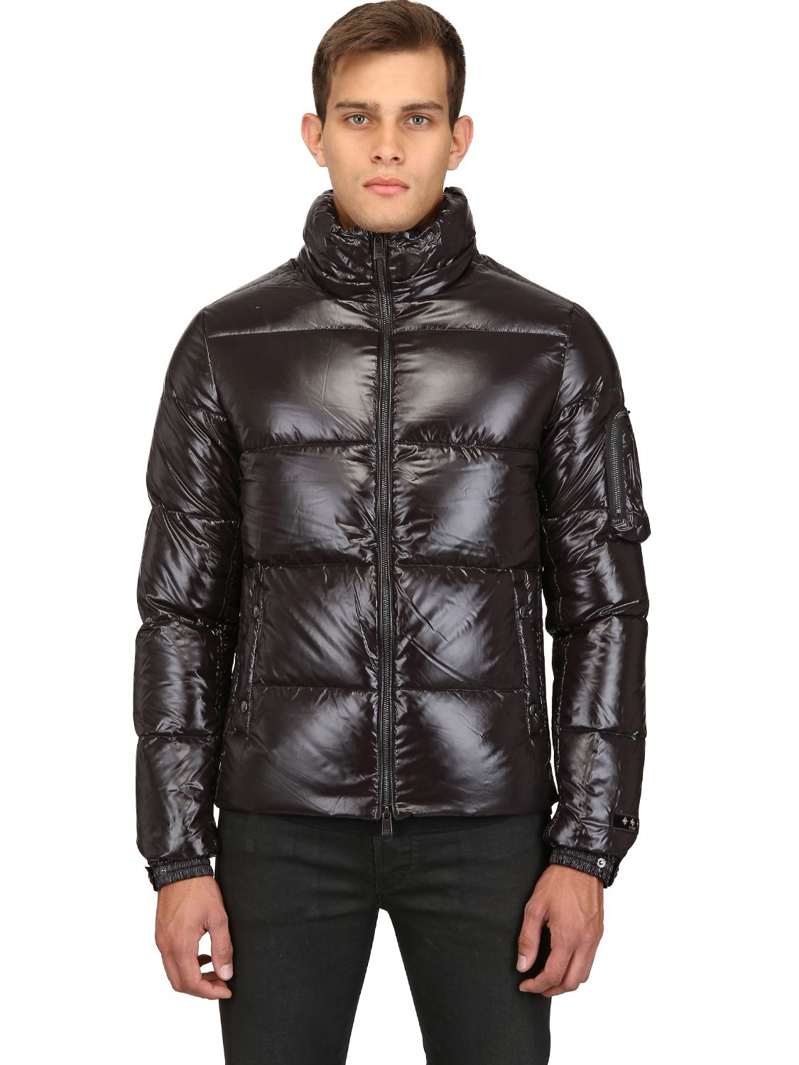 Lyst - Tatras Kraz Shiny Nylon Hooded Down Jacket in Black for Men