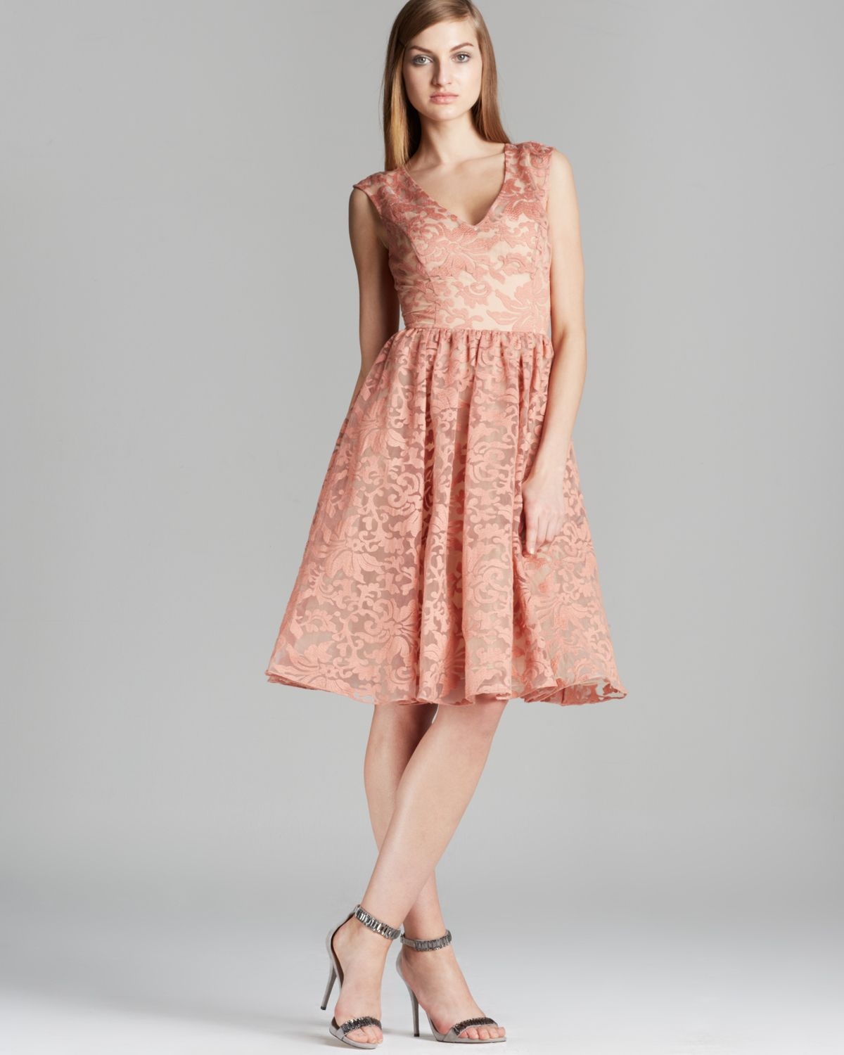 Tracy Reese Dress Dolce Vita Embroidered Organza Lace Fit