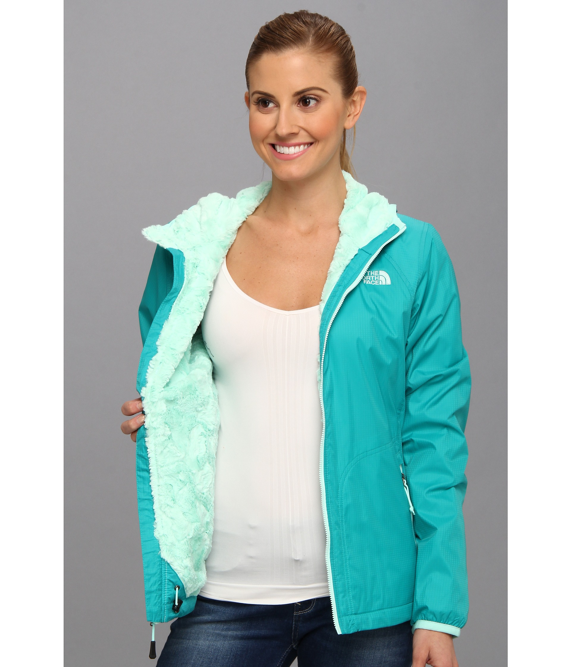 7cdce0883 The North Face Blue Pitaya Swirl Jacket