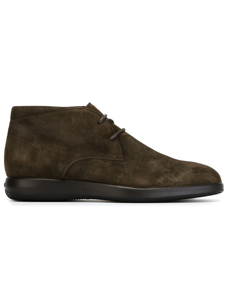 Hogan Leather 'h209' Desert Boots in Dark Brown (Brown) for Men - Lyst