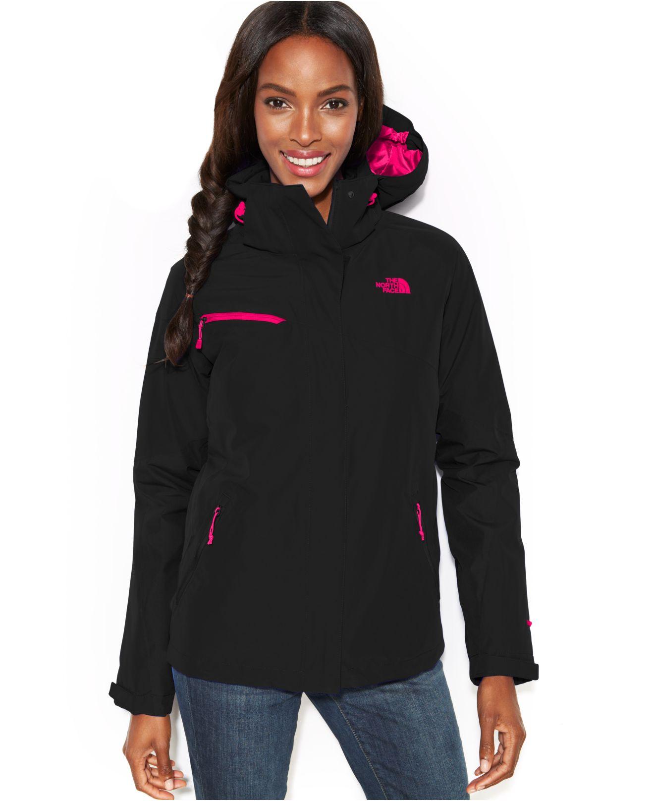 c6246ee21 The North Face Black Hooded Cinnabar Triclimate Waterproof Zip-Up Jacket