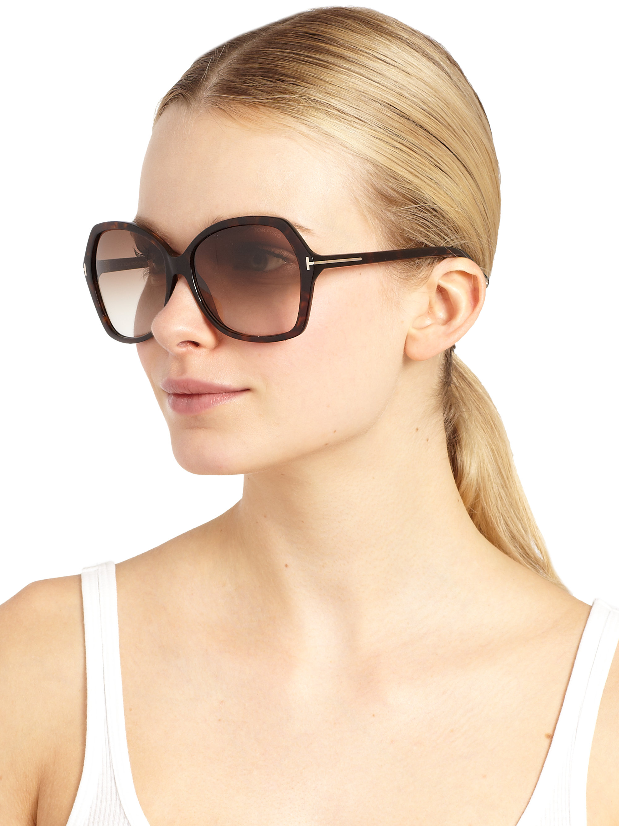 9ad38f16e22e Gallery. Previously sold at  Saks Fifth Avenue · Women s Gold Sunglasses  Women s Blue Sunglasses Women s Tom Ford ...