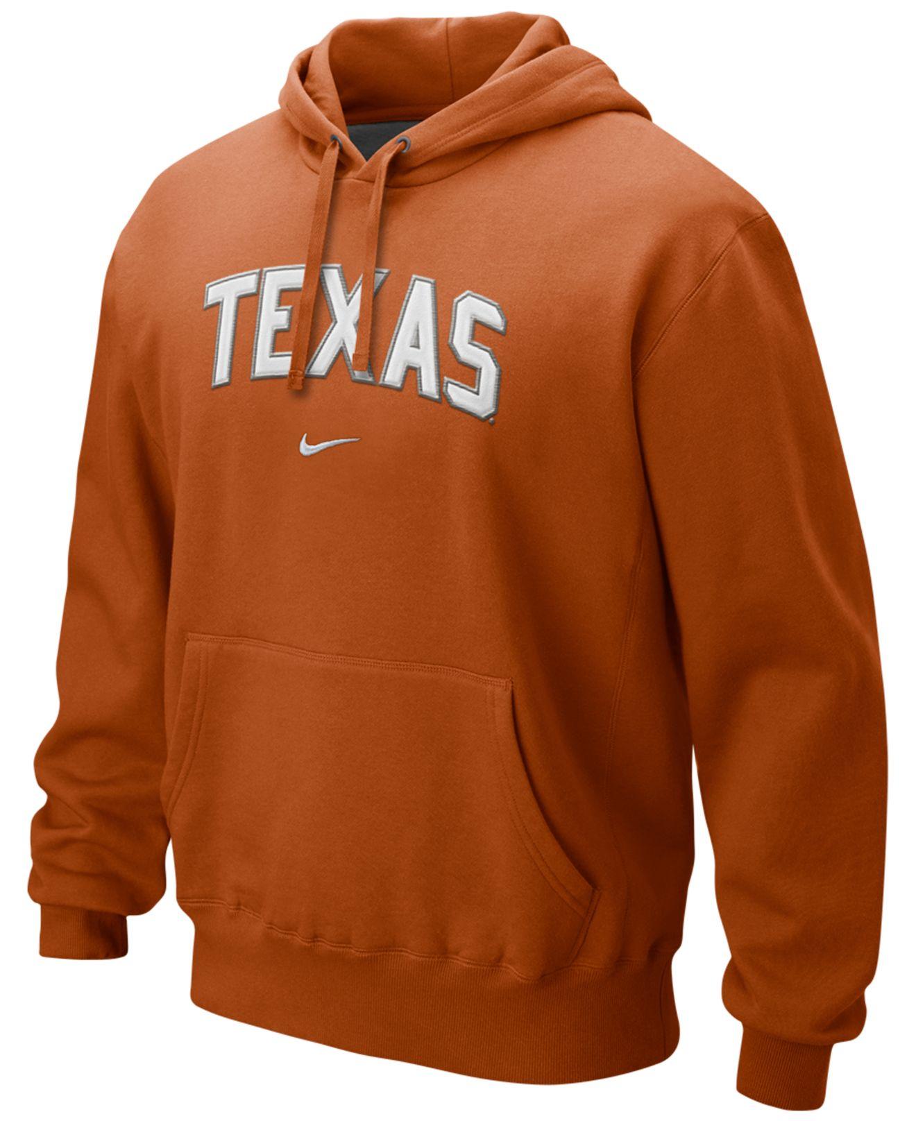 Nike Nike Men's Texas Longhorns Hoodie Sweatshirt in Orange for ...
