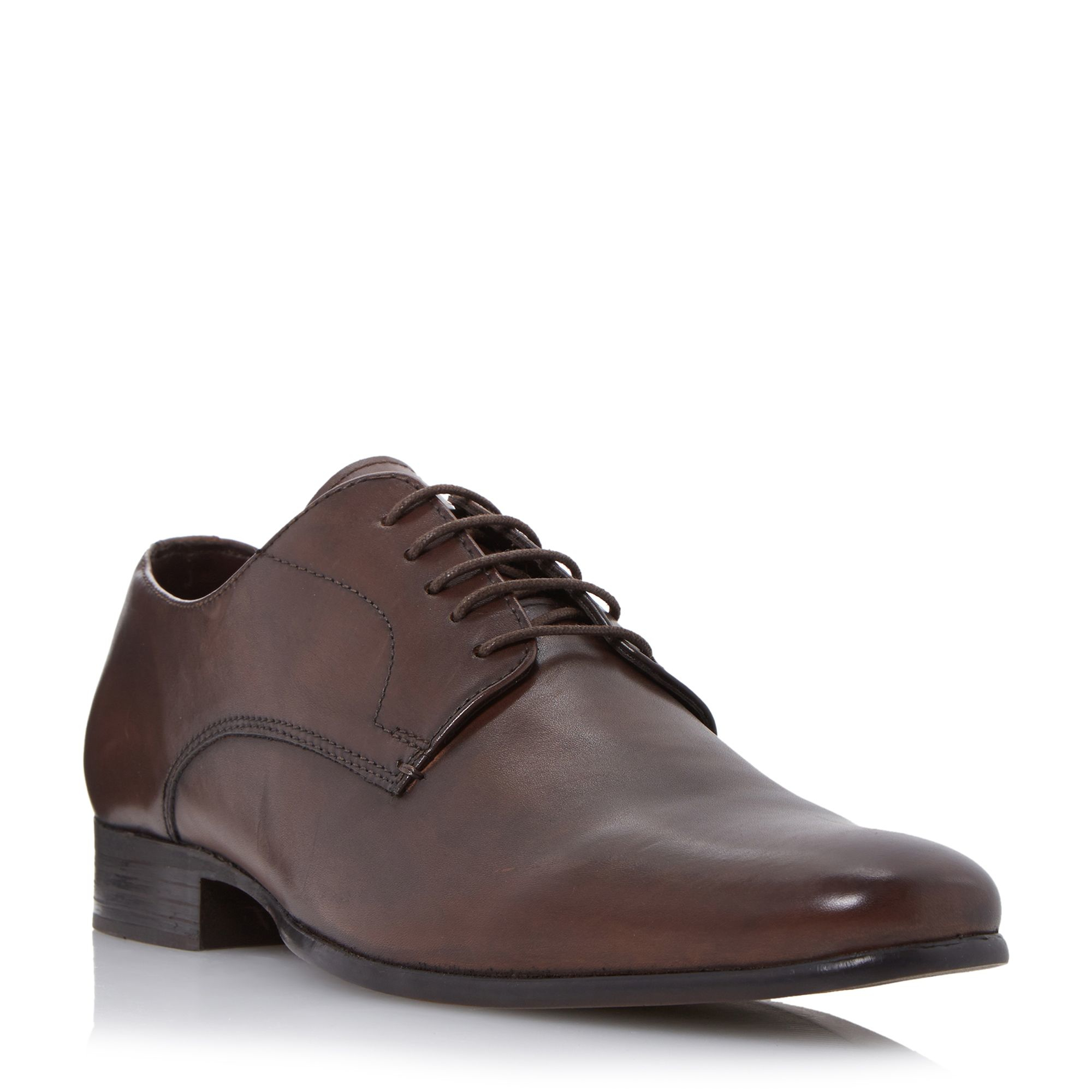 howick riser high shine leather derby shoes in brown for