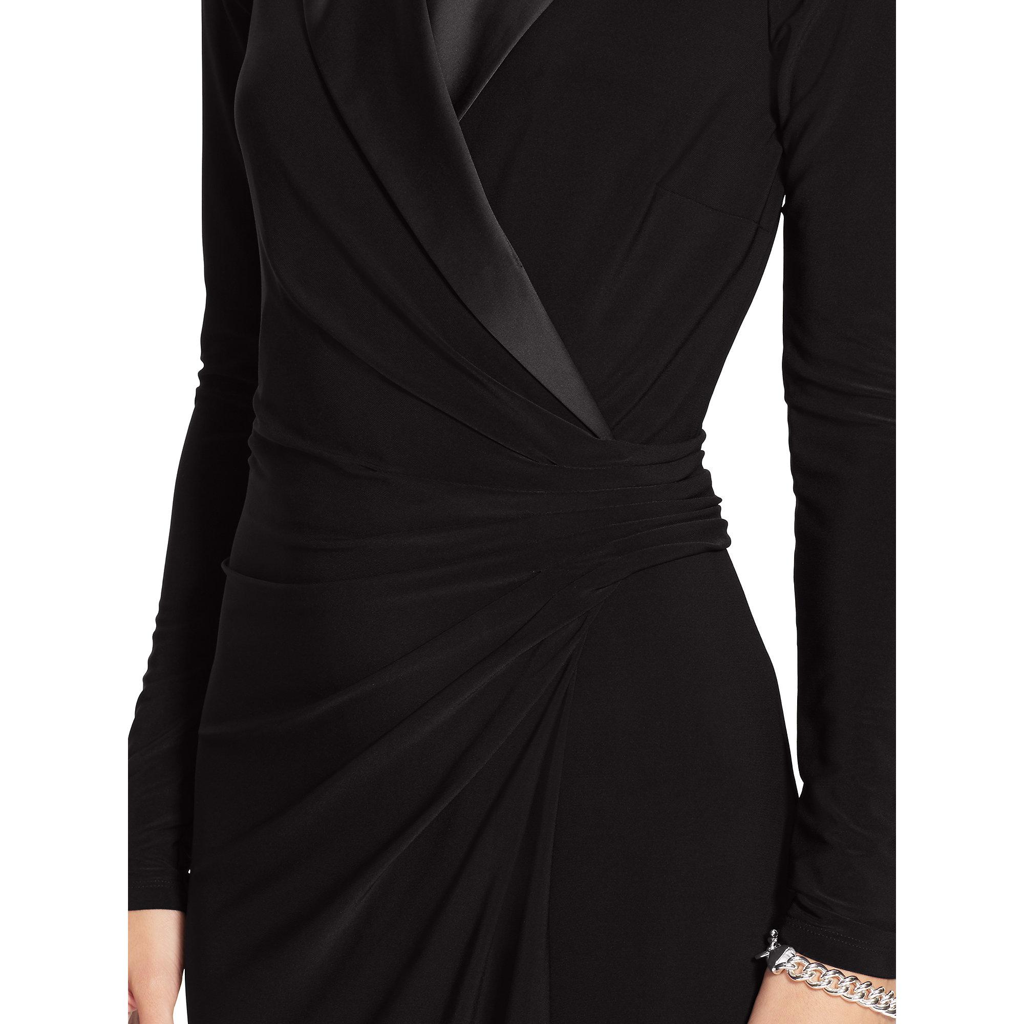 Lyst Pink Pony Jersey Tuxedo Dress In Black