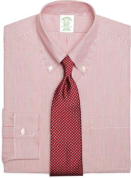 Brooks Brothers Noniron Slim Fit Candy Stripe Dress Shirt