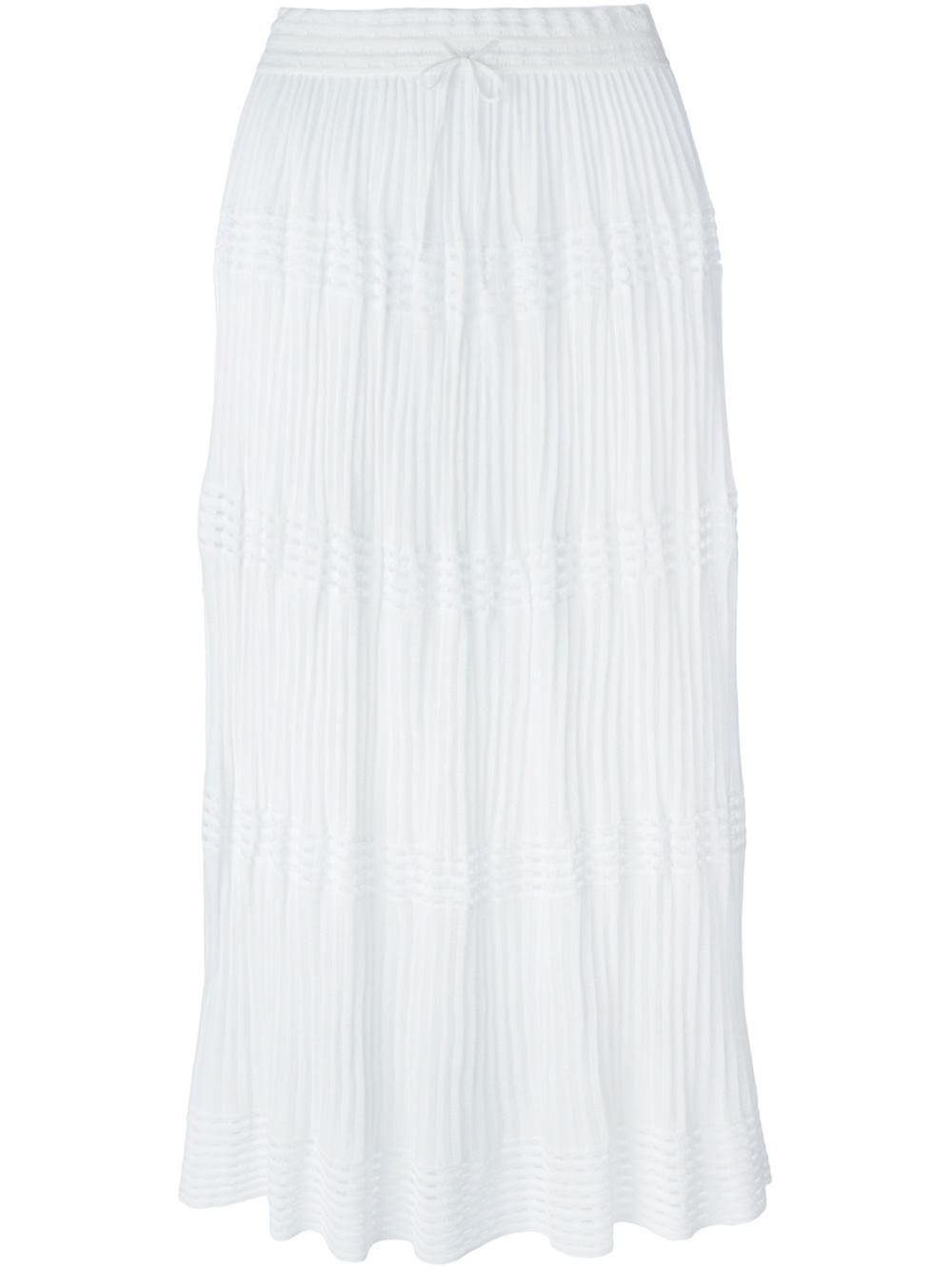 m missoni knit maxi skirt in white lyst