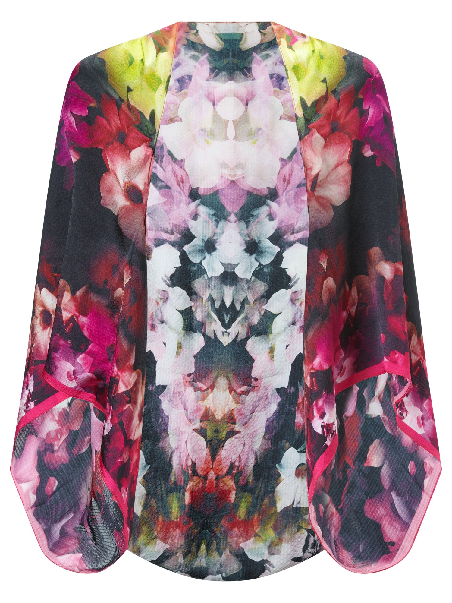 Ted Baker Cascading Floral Silk Cape In Black Lyst