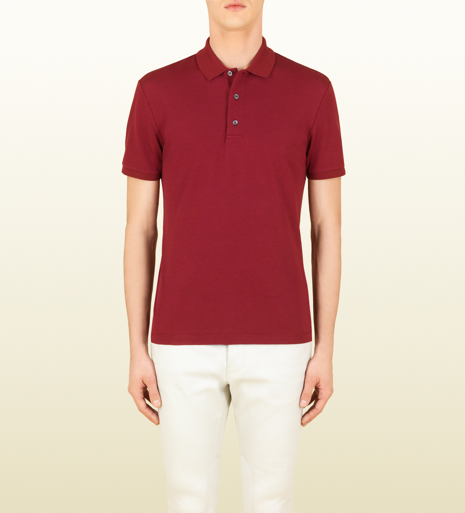 c84fb02a40ef6 Gucci Short-sleeved Polo Shirt in White for Men