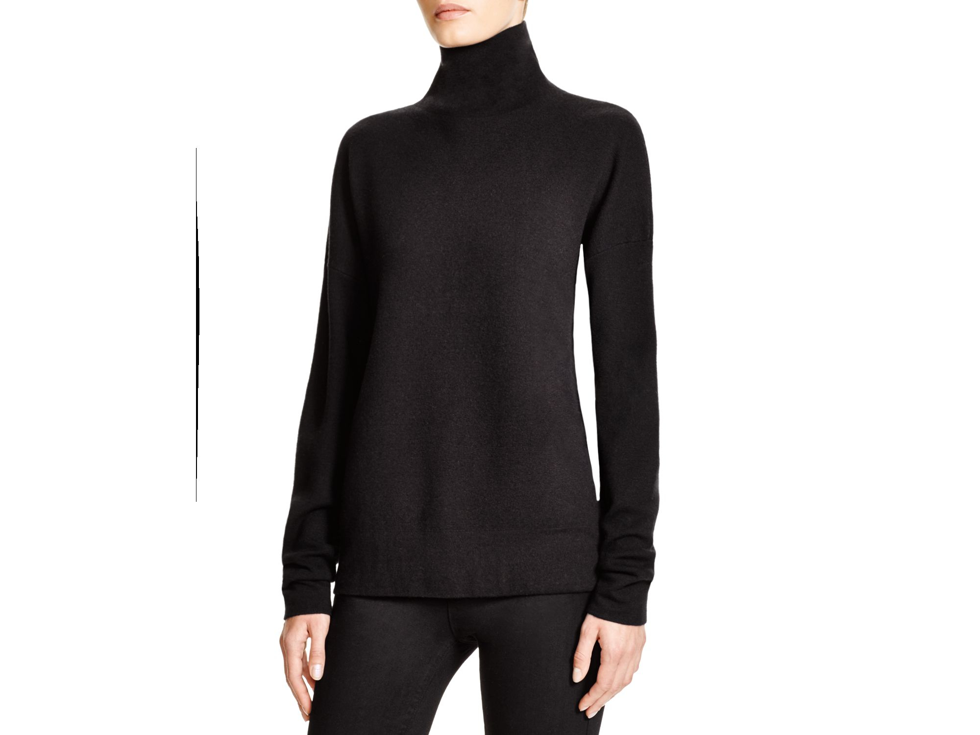 feb539b7796 Lyst - Dkny Turtleneck Sweater in Black