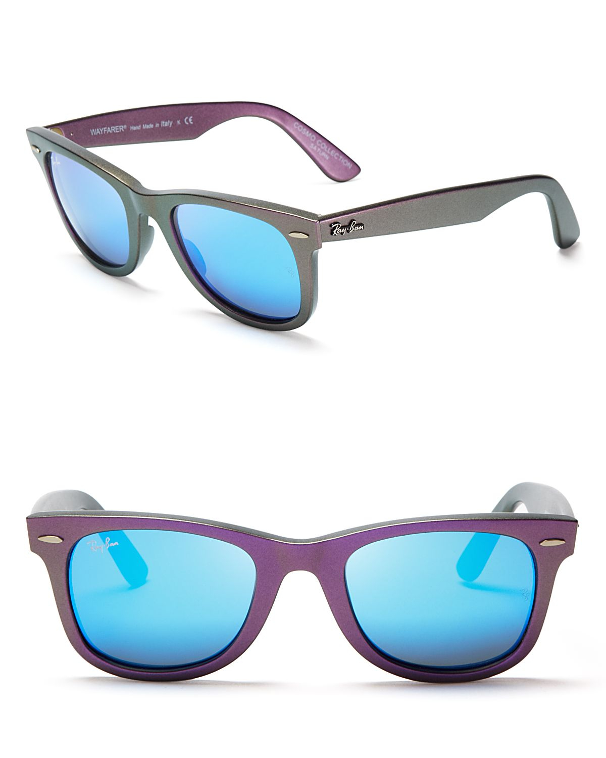 3b7648ad262b ... discount code for ray ban iridescent mirrored wayfarer sunglasses in  blue for men lyst 27f06 b4e3f ...