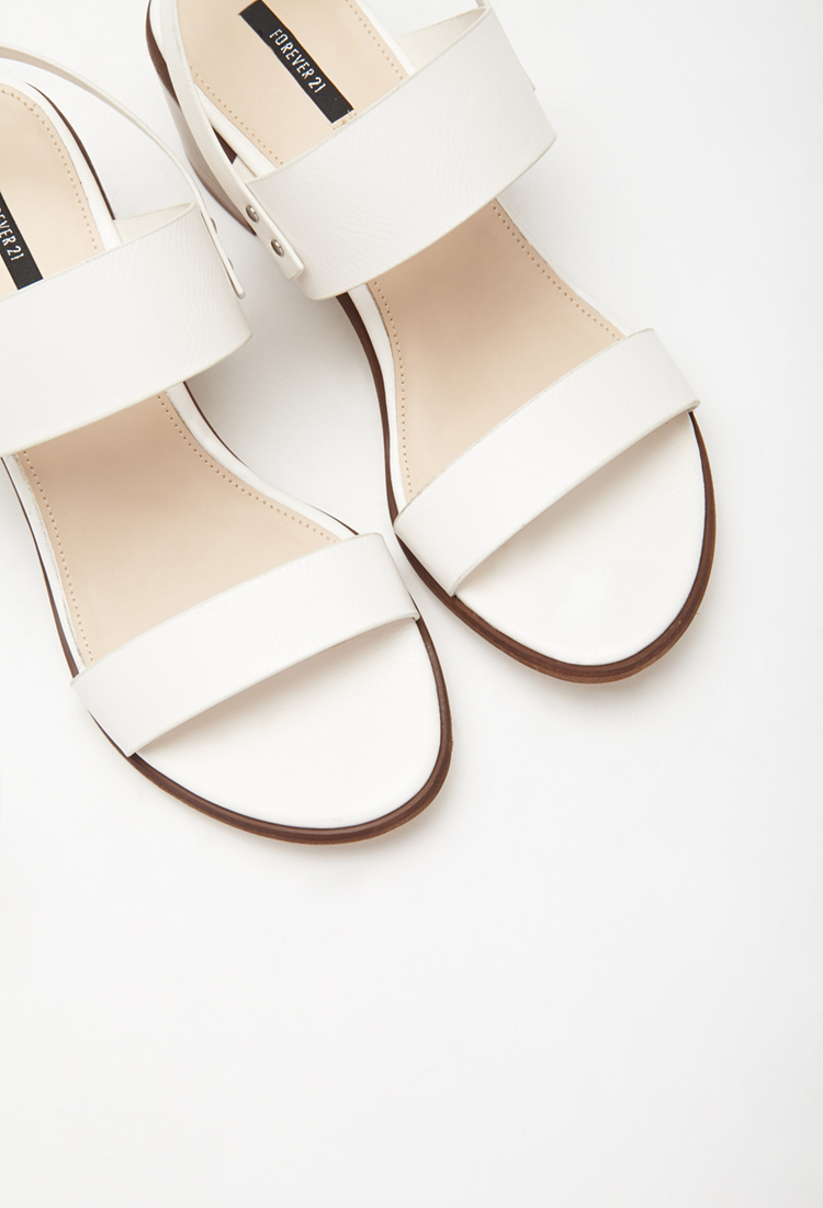 Forever 21 Faux Leather Slingback