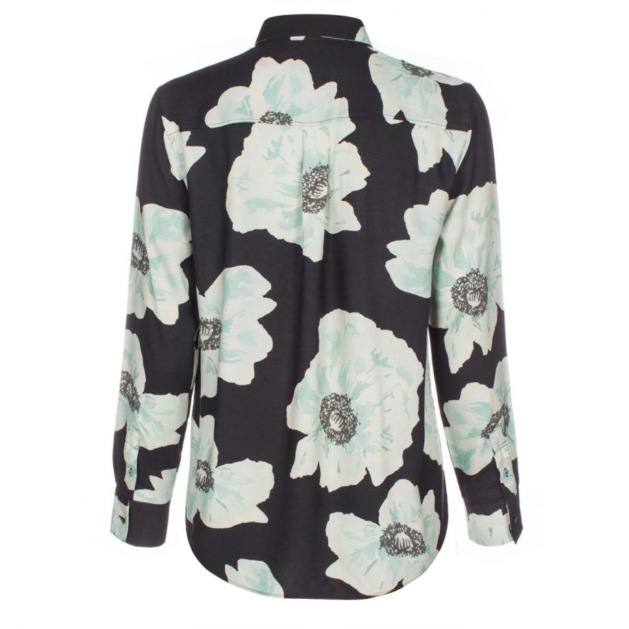 Paul Smith Women 39 S Black Shirt With 39 Anemone Floral 39 Print