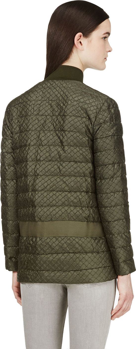 Lyst Moncler Gamme Rouge Green Scale Textured Puffer