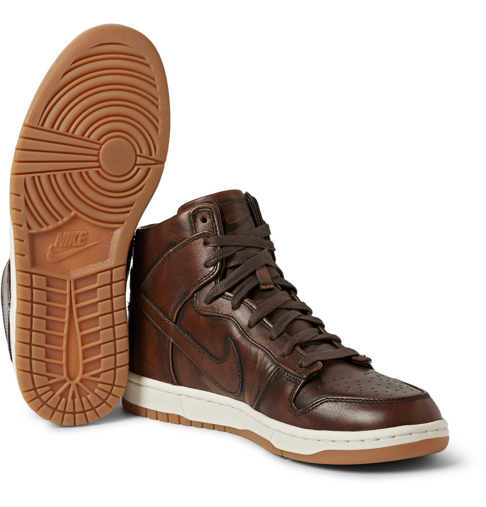 sports shoes 378a4 44912 Nike Brown Lab Dunk High Sp Burnished Leather Sneakers for men