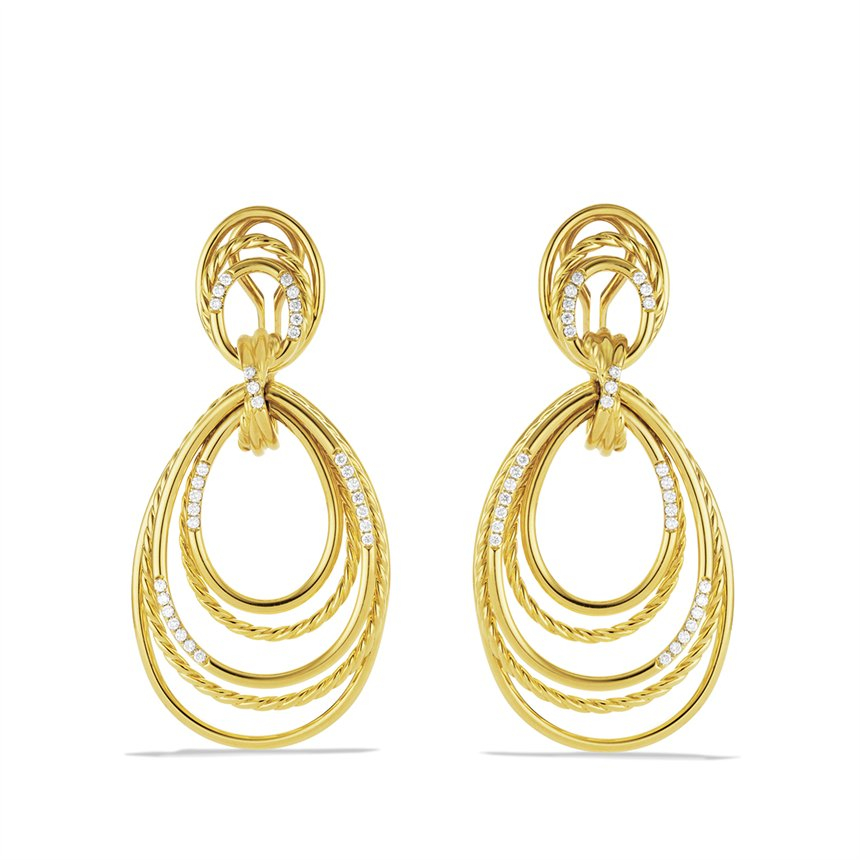 david yurman cable threads doorknocker earrings with