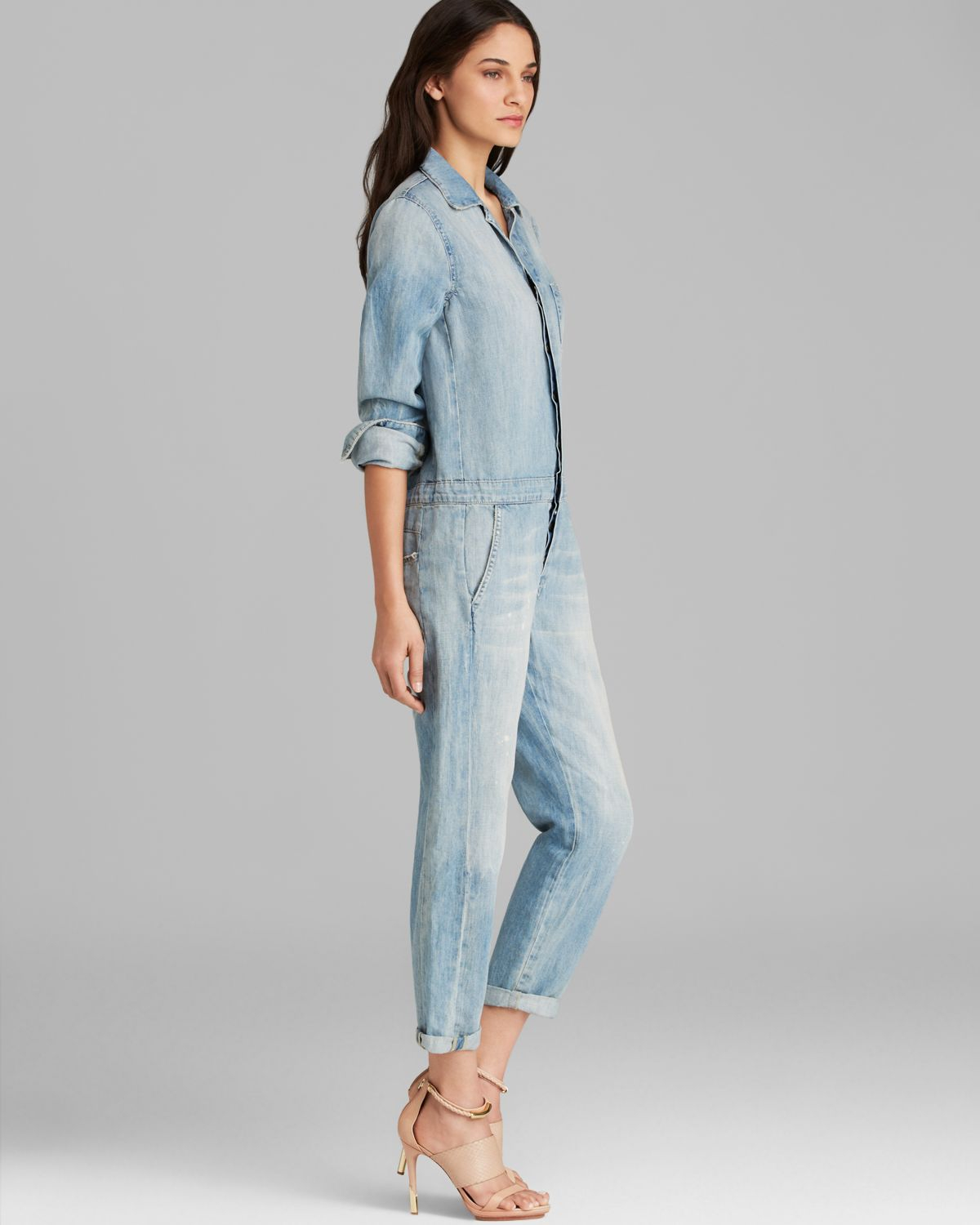 ead58619103 Lyst - Joe s Jeans Jumpsuit Relaxed Denim in Blue