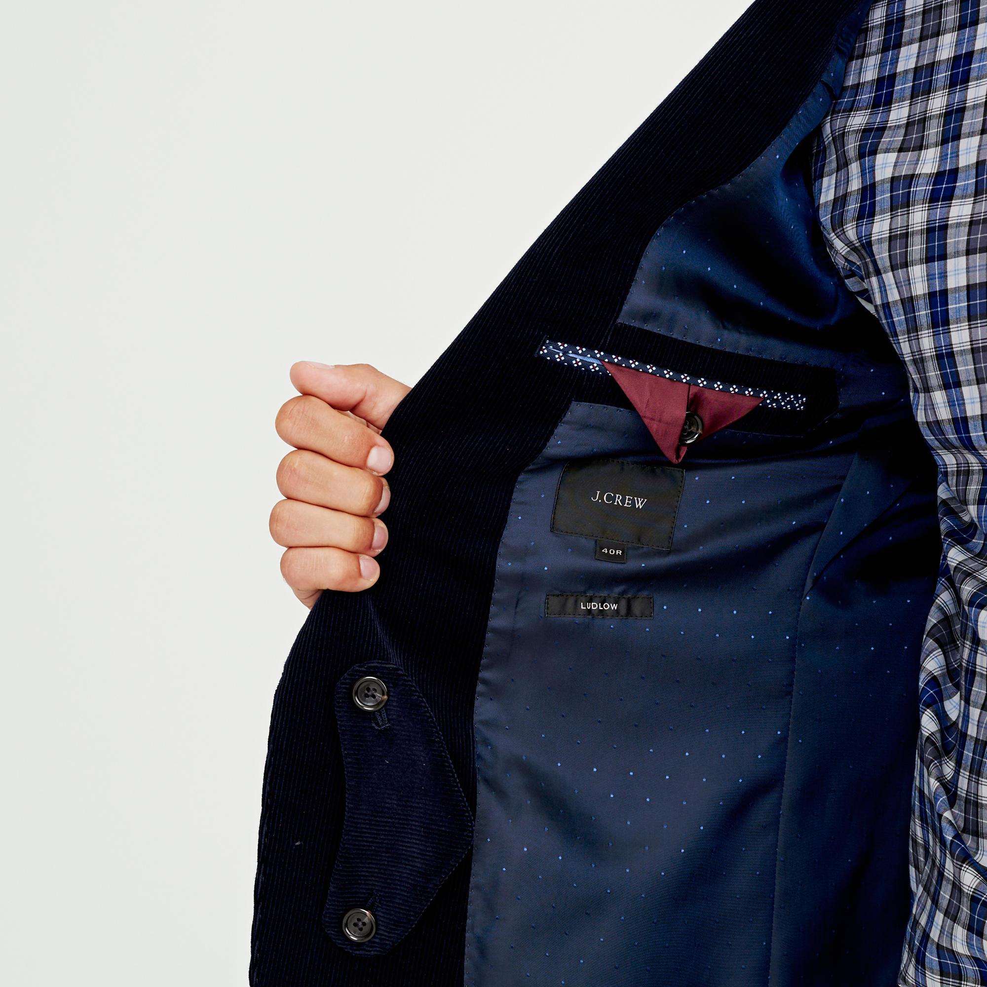 J.Crew Ludlow Fielding Suit Jacket In Italian Corduroy in Blue for Men