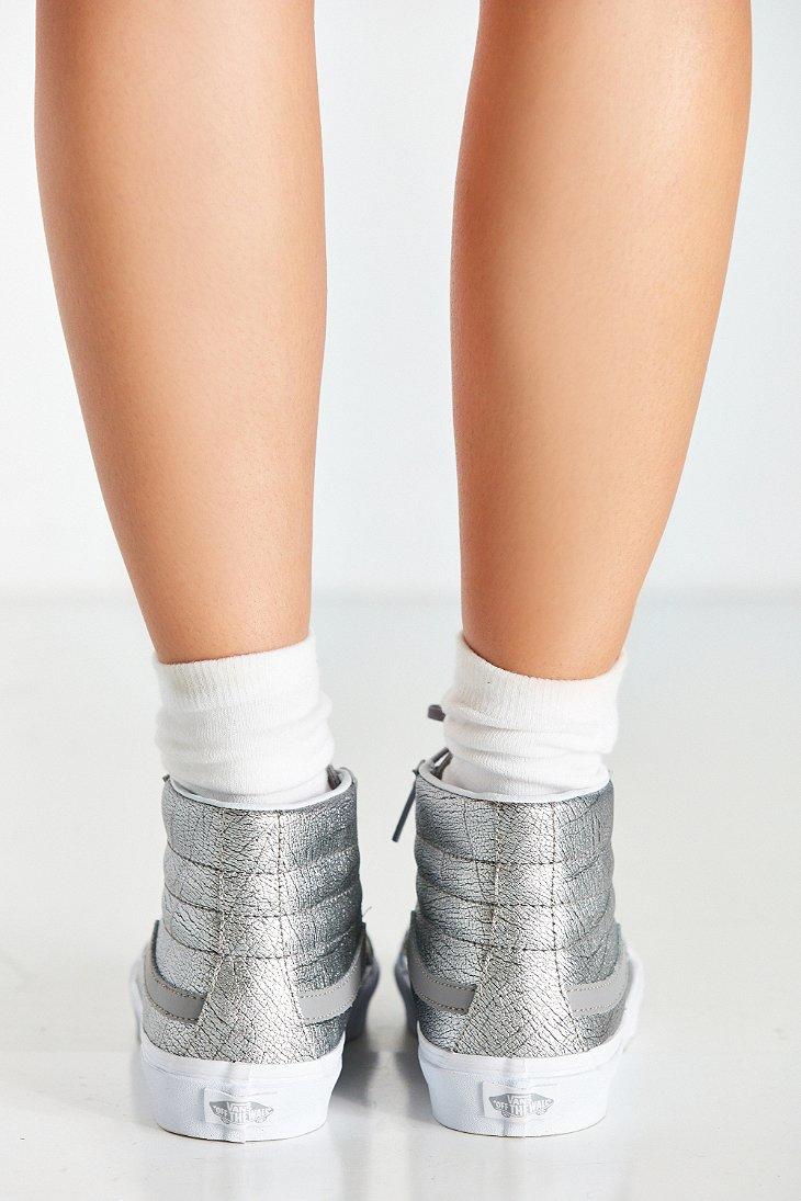 6dd7d12a7b Lyst - Vans Sk8-hi Slim Metallic Foil Sneaker in Metallic