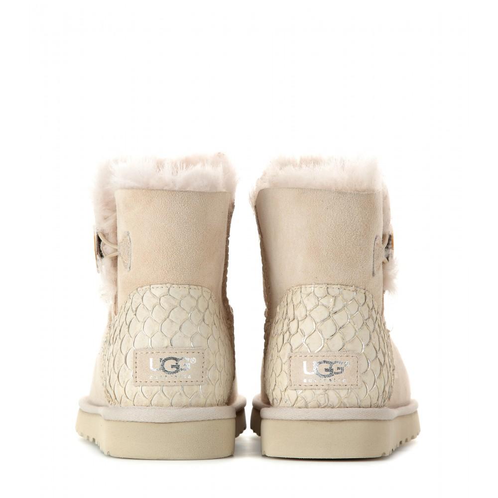 4b9b151e516 UGG Natural Mini Bailey Button Boots