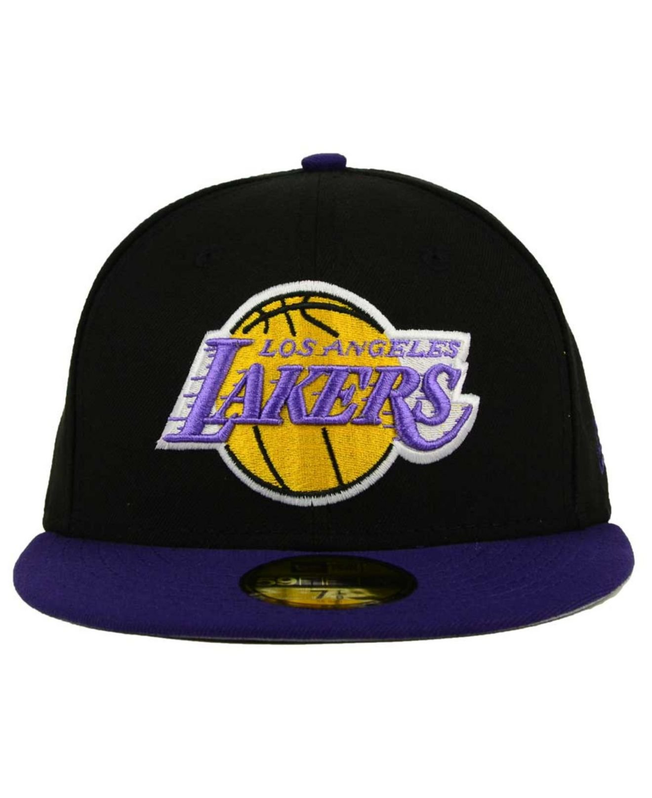 ee43bb0ce ... low price lyst ktz los angeles lakers 2 tone basic 59fifty cap in black  for men