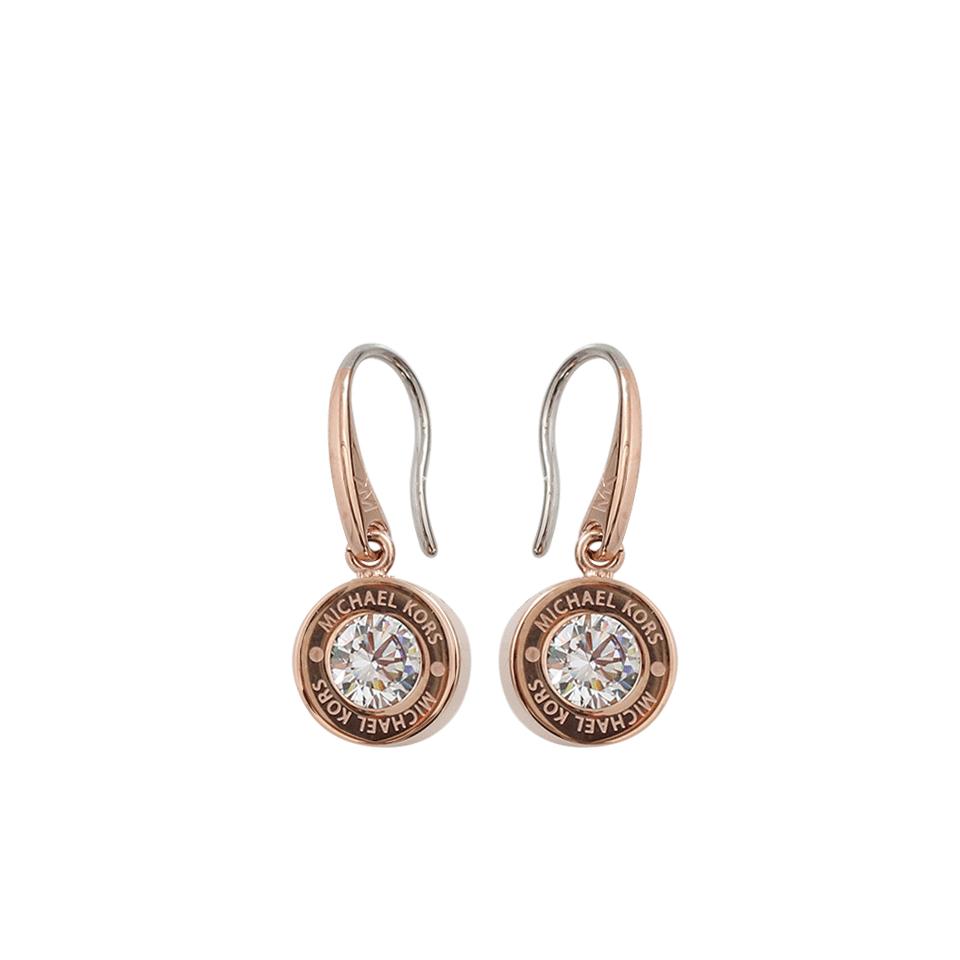 Lyst Michael Kors Drop Crystal Earrings in Metallic