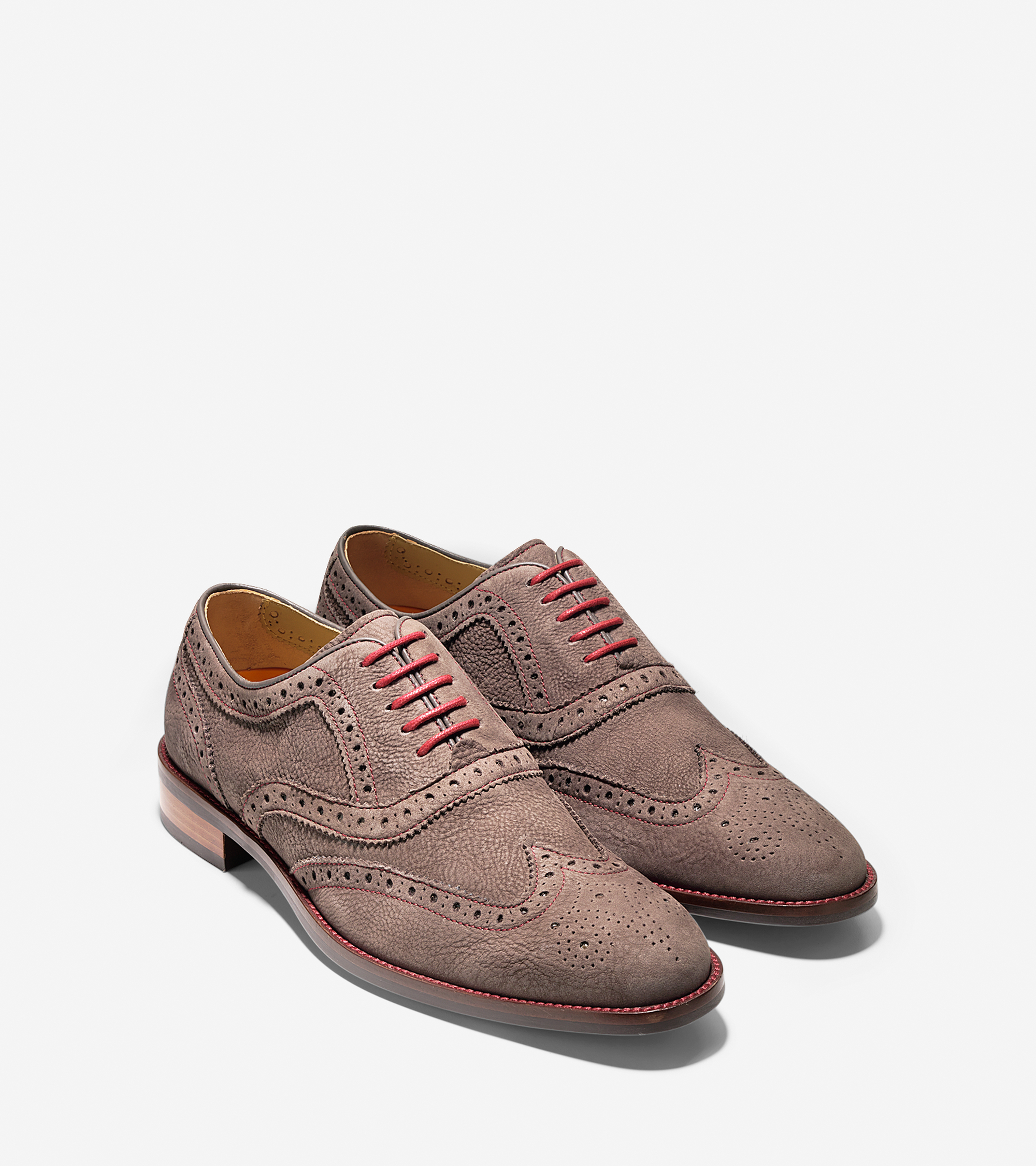 cole haan lenox hill casual wingtip in brown for