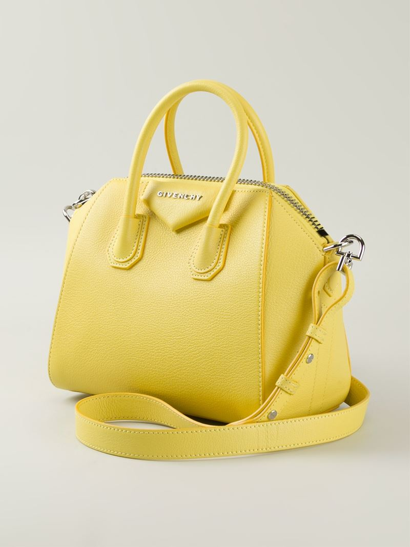 Lyst - Givenchy Antigona Small Leather Tote in Yellow 192ced17735c1