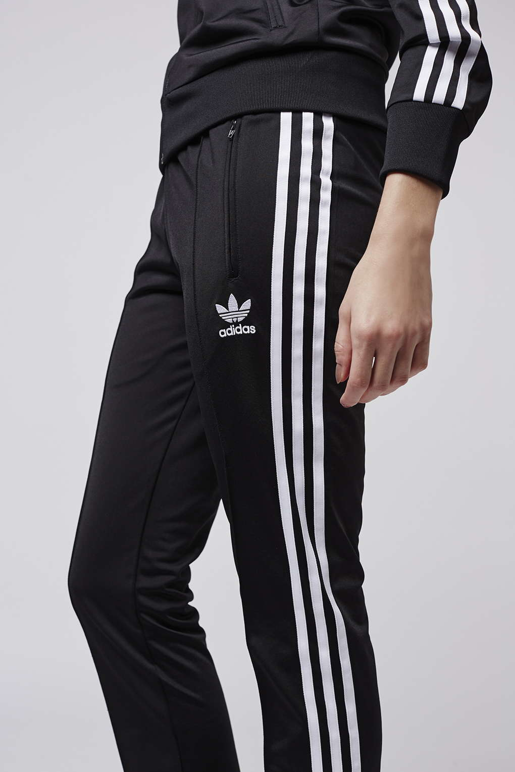 4f105edfaf00 Lyst - TOPSHOP Firebird Track Pant Trousers By Adidas Originals in Black