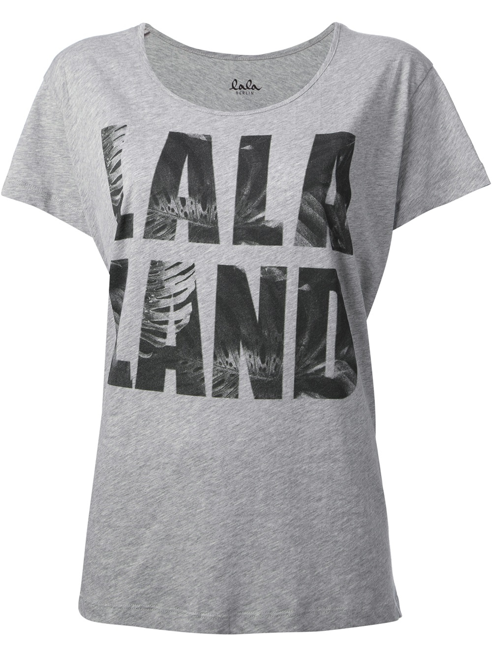 lala berlin lala land print tshirt in gray lyst. Black Bedroom Furniture Sets. Home Design Ideas