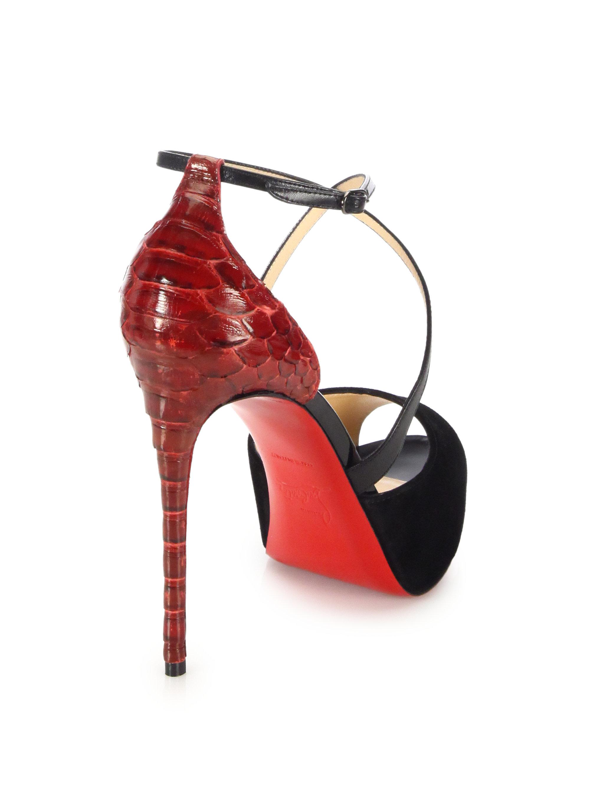 louis vuitton replicas shoes - christian louboutin amor leather platform ankle boots | Landenberg ...