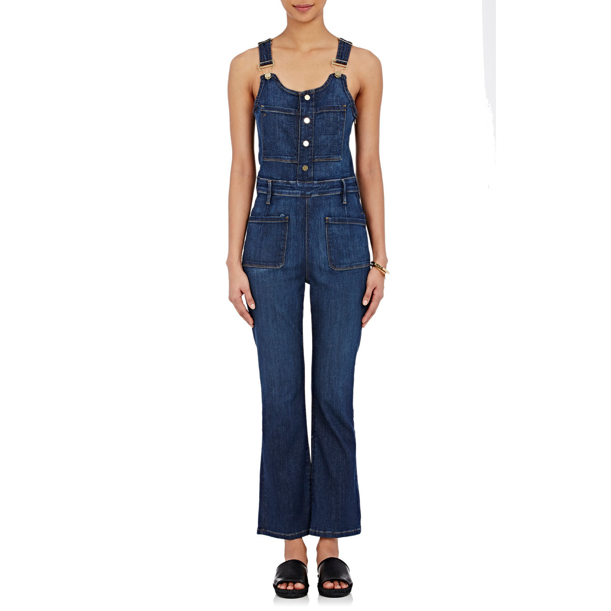 Lyst - Frame Women\'s Le High Flared Overalls in Blue