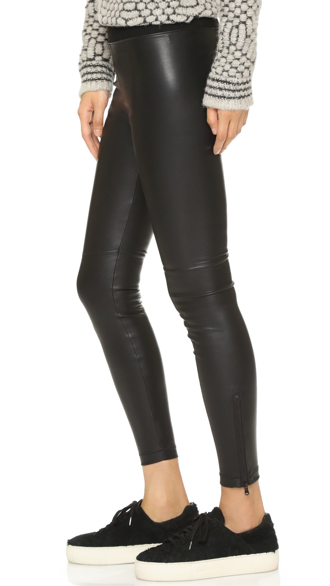 171577785df5e David Lerner Pull On Vegan Leather Leggings in Black - Lyst