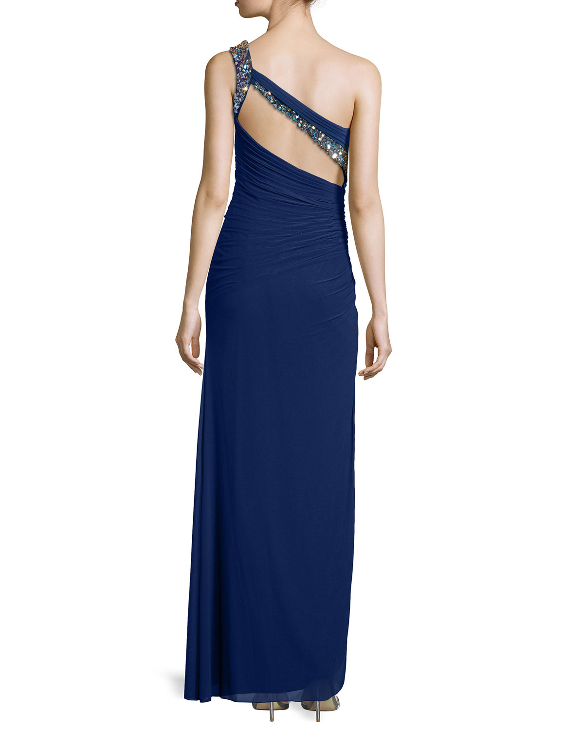 Opinion La femme one shoulder dress can
