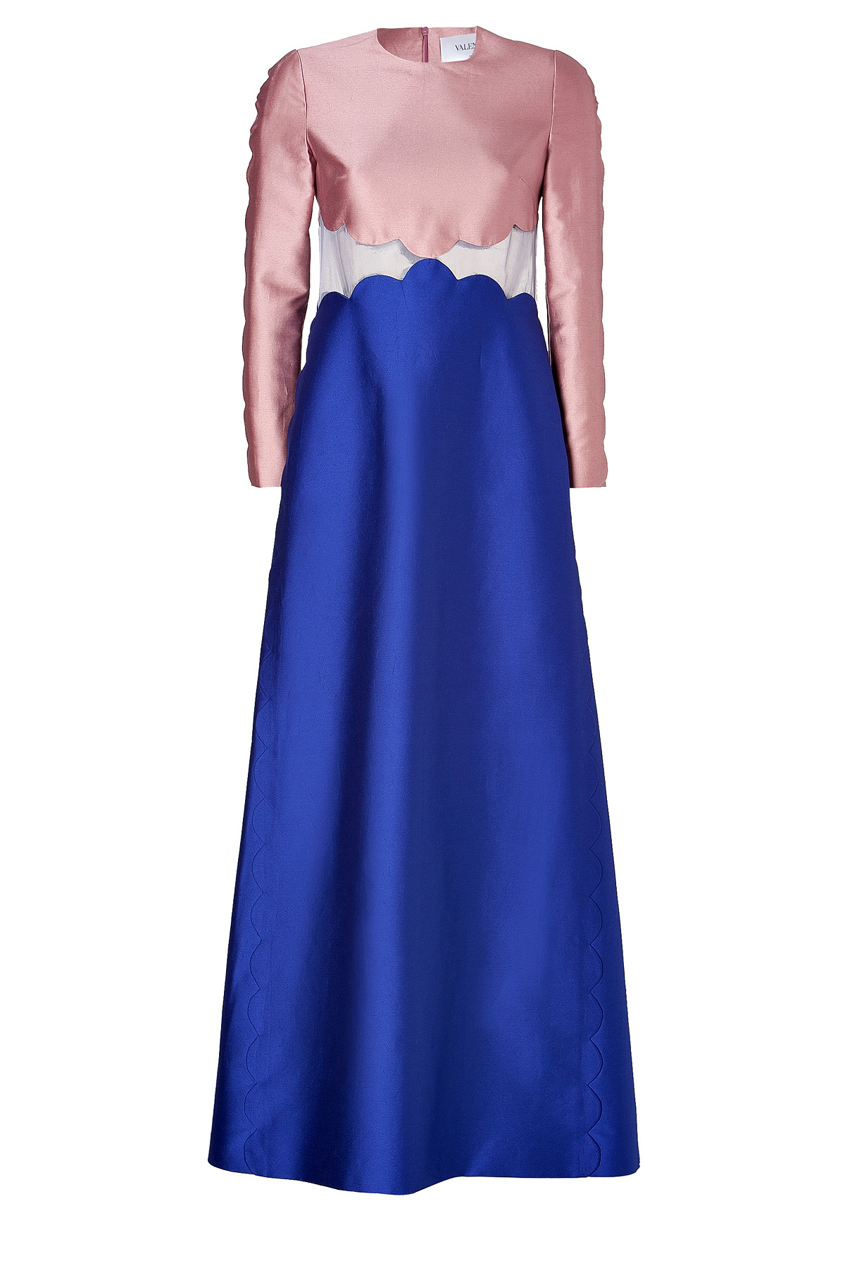 Lyst Valentino Colorblock Evening Gown In Rose China
