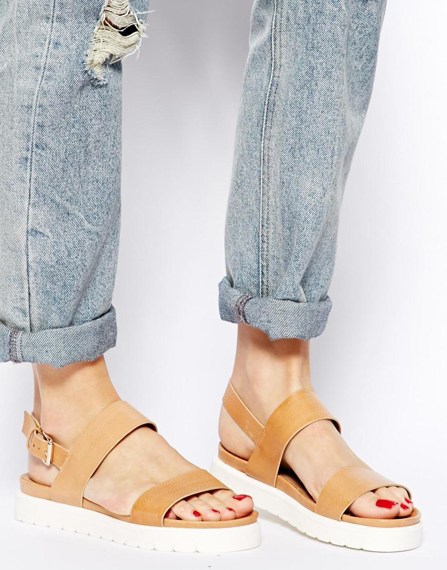 Aldo Parramore Bone Footbed Flat Sandals In Brown Lyst