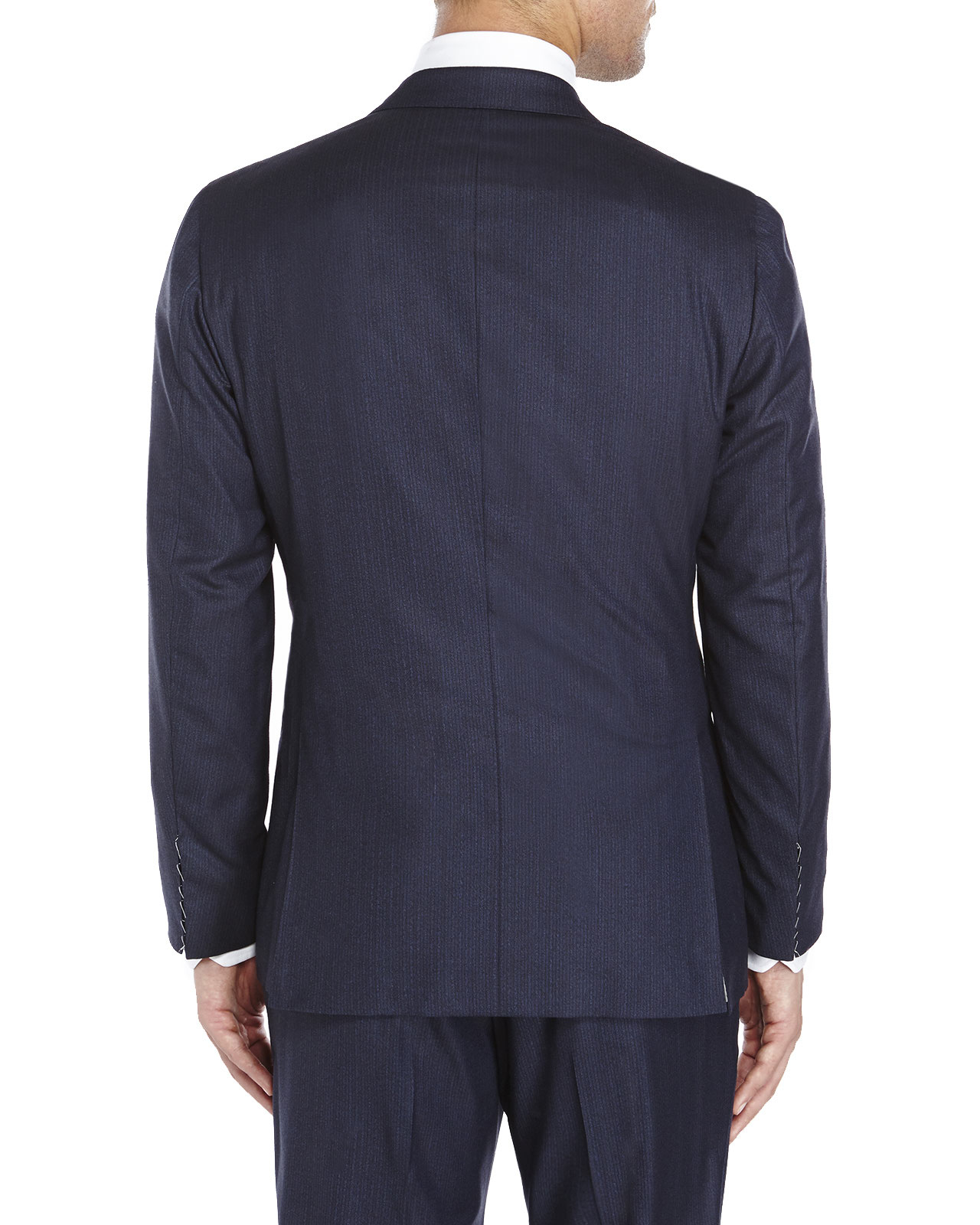 Kiton Blue Double-Breasted Suit in Blue for Men | Lyst