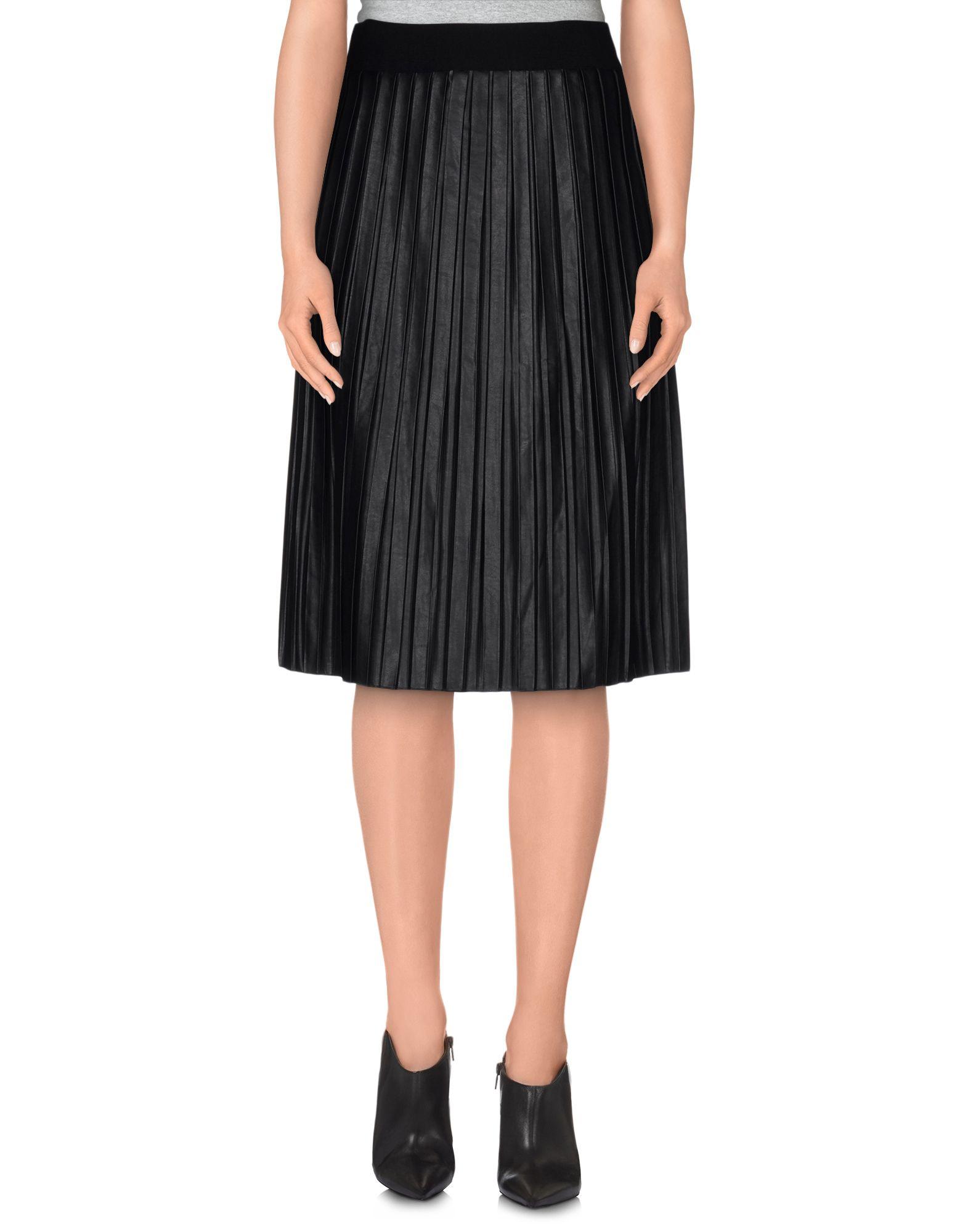 neera knee length skirt in black lyst