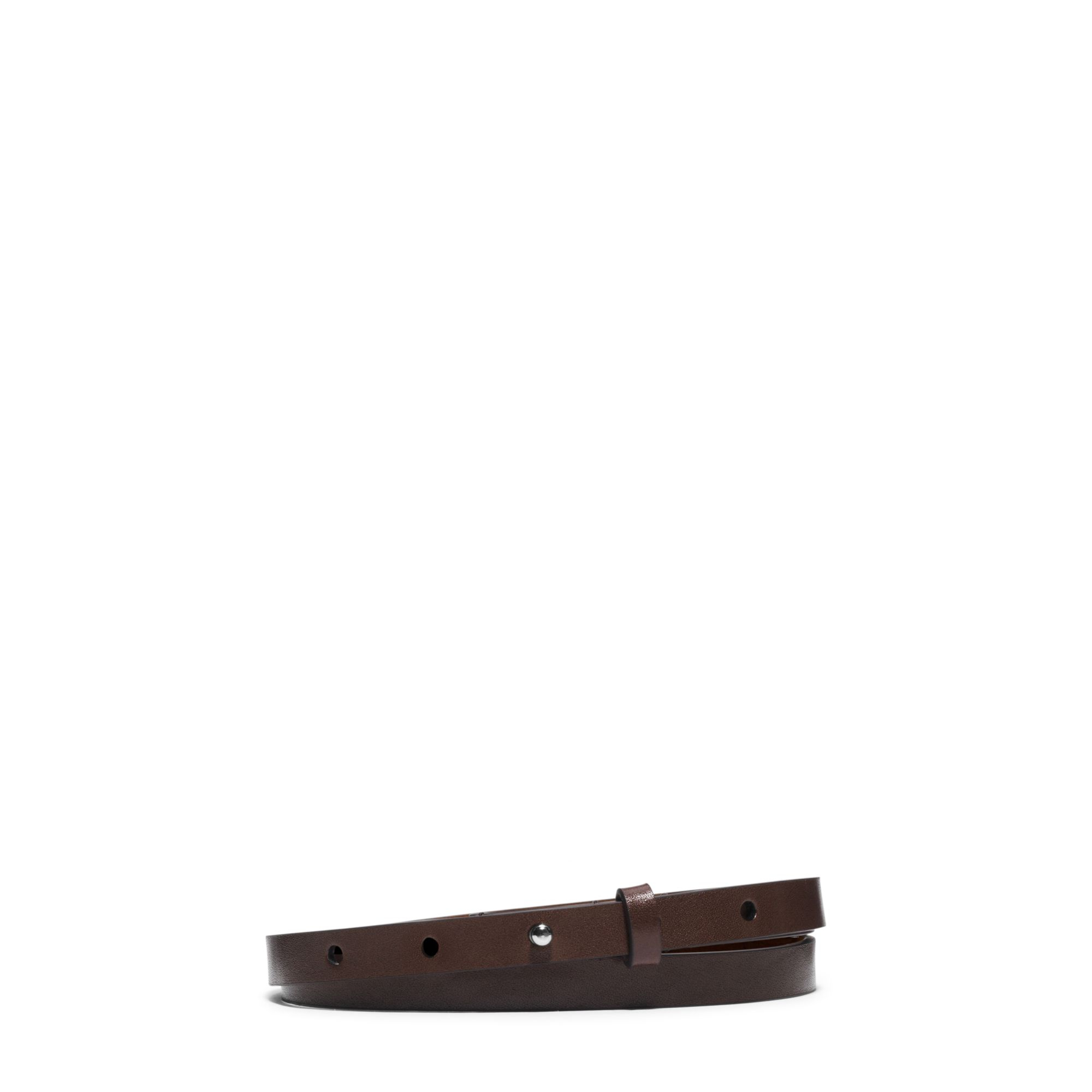 michael kors leather belt in brown lyst