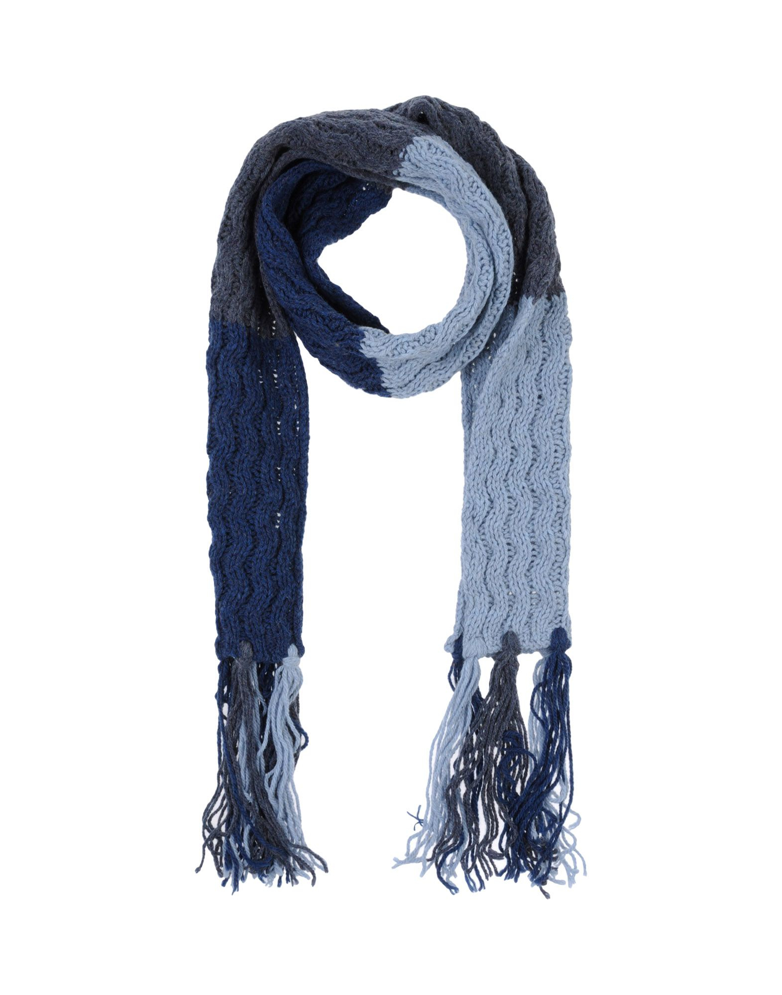 calvin klein oblong scarf in blue blue lyst