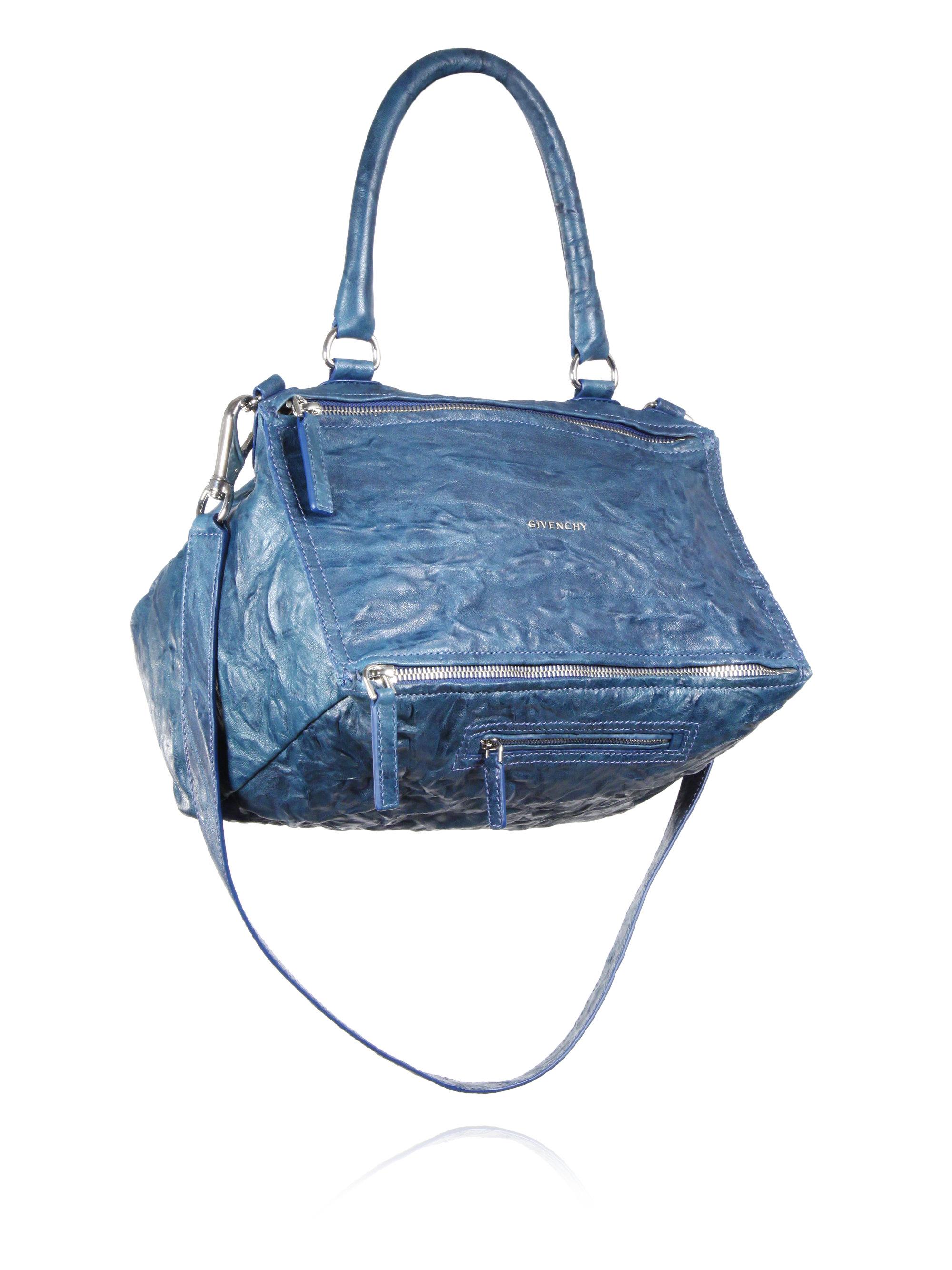 af5cf986c5 Givenchy Pandora Pepe Medium Leather Shoulder Bag in Blue - Lyst